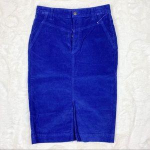 Free People NWOT Rosemary Corduroy Pencil Skirt